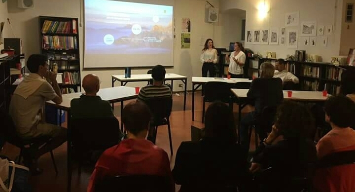 EVMO News presenting our hybrid poetry project at the German Institute of Perugia
